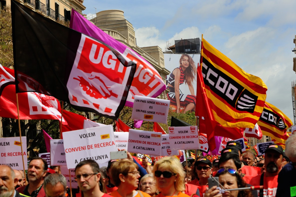 Manifestacion del dia del trabajador 1 de mayo del 2017.