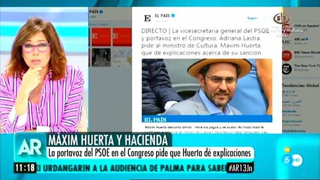 Ana Rosa, ante el caso Huerta (T-5).