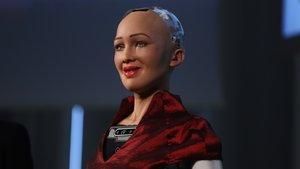 La robot humanoide Sophia, de la empresa Hanson Robotics, durante la quinta HR Conference de Barcelona.