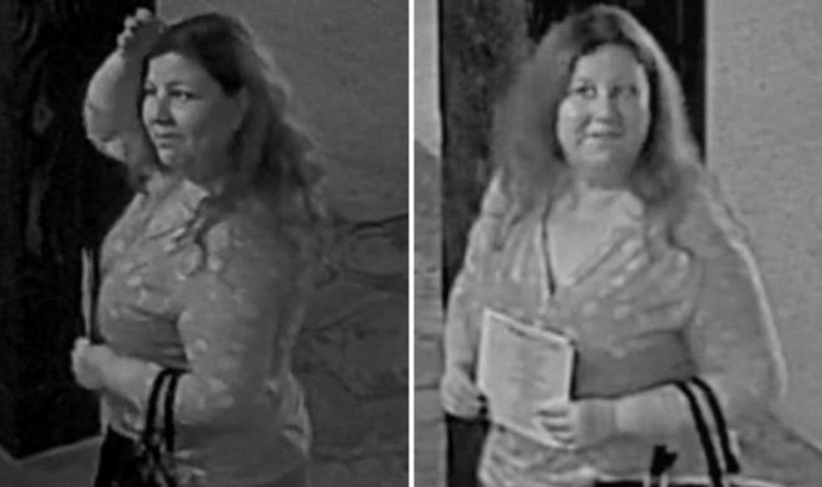 La supuesta 'ladrona de bodas en serie', captada por cámaras de seguridad.