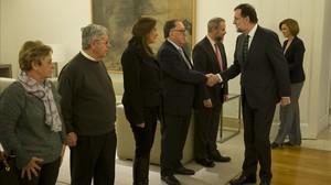Reunión entre Mariano Rajoy y los familiares de los militares fallecidos en el Yak-42.