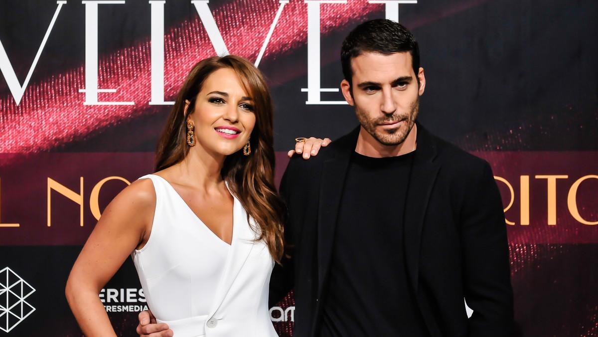 Paula Echevarria y Miguel Ángel Silvestre, protagonistas de Velvet, en la presentación del finalde la serie de Antena 3.