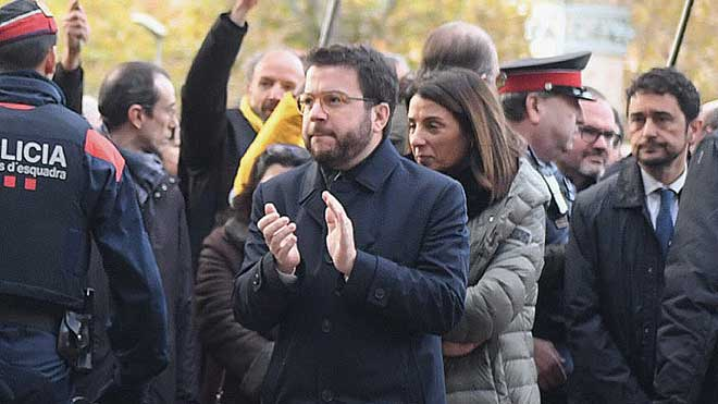 Pere Aragonès, sobre el judici a Torra: «No contemplem cap inhabilitació»