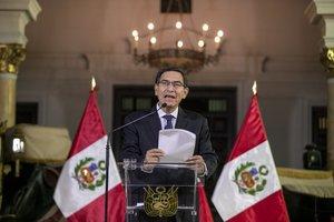 El presidente peruano Martín Vizcarra anunció la disolución del parlamento tras negarle la cuestión de confianza.