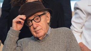 Woody Allen, en la presentación del rodaje de su próxima película, en San Sebastián