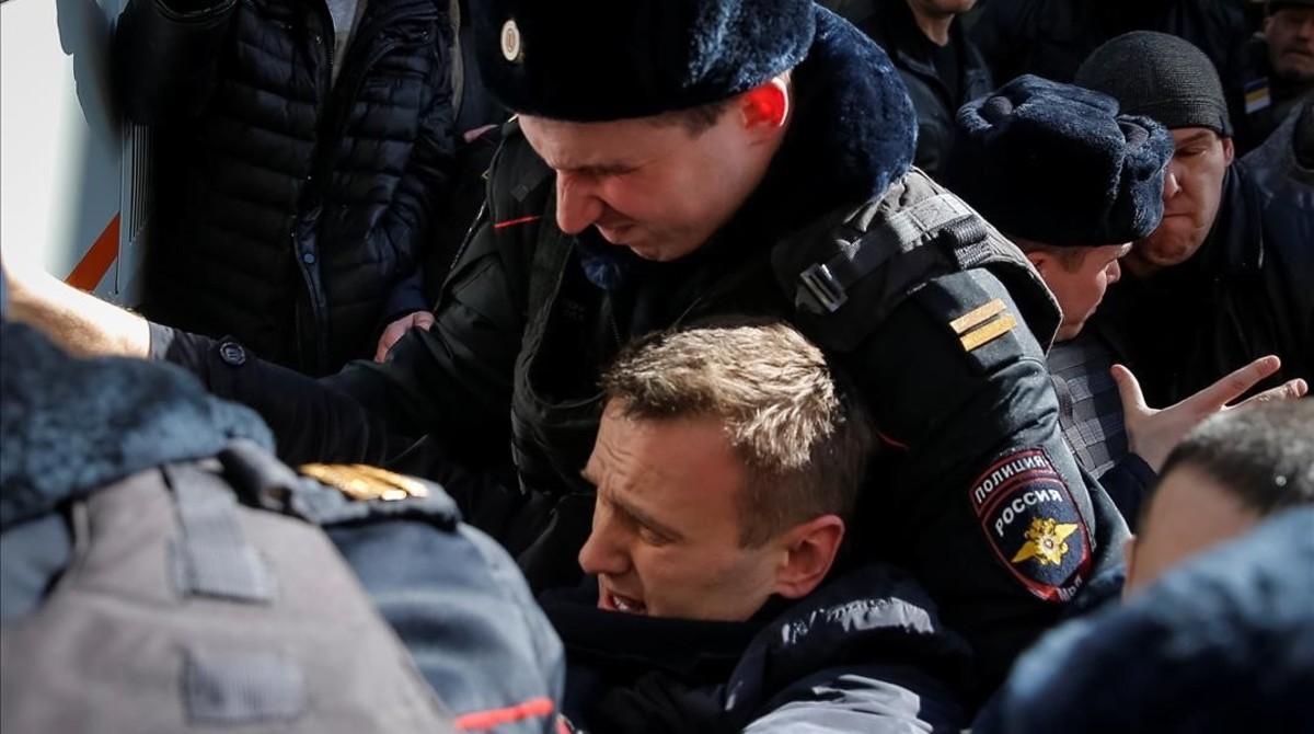 Més de 700 detinguts en les manifestacions a Rússia contra la corrupció