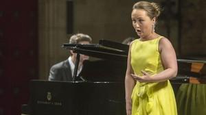Julia Lezhneva, durante su recital del sábado en Peralada.
