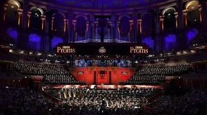 Una imagen de la interpretación de Gurrelieder, con el Orfeó Català, en el Royal Albert Hall de Londres.