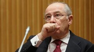Rodrigo Rato en la Comisión de investigación sobre la crisis financiera en España.