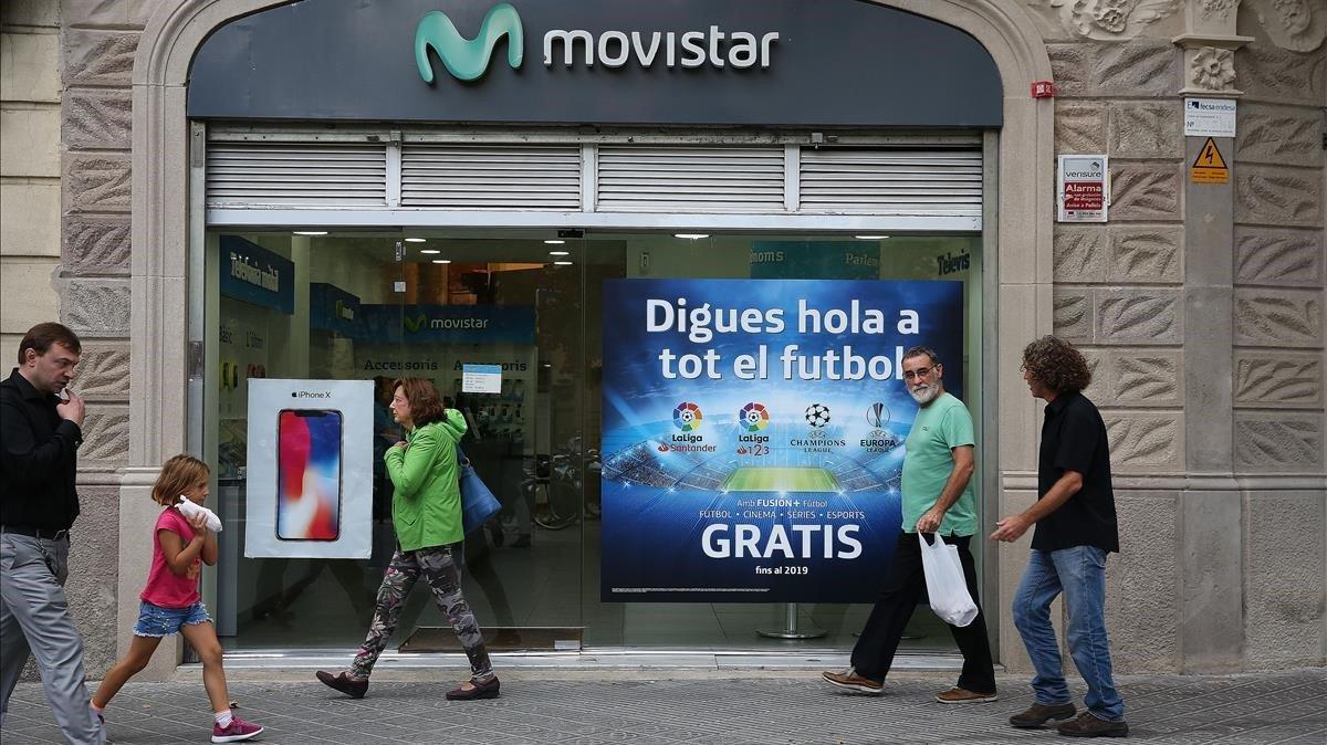 Promoción de retransmisiones de fútbol de Movistar+parala temporada 2018-19.