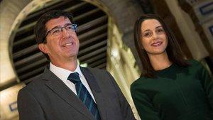 Inés Arrimadas y Juan Marín.