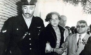 El joven Robledo Puch, en manos de las autoridades tras su detención en 1972.