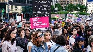 Manifestación en Nueva York, el pasado 21 de mayo, contra las nuevas leyes antiabortistas, aprobadas en varios estados de EEUU.