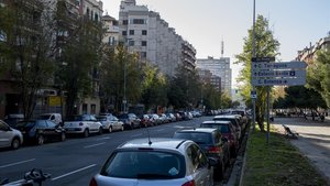 Tramo final por reurbanizar de la avenida de Roma.