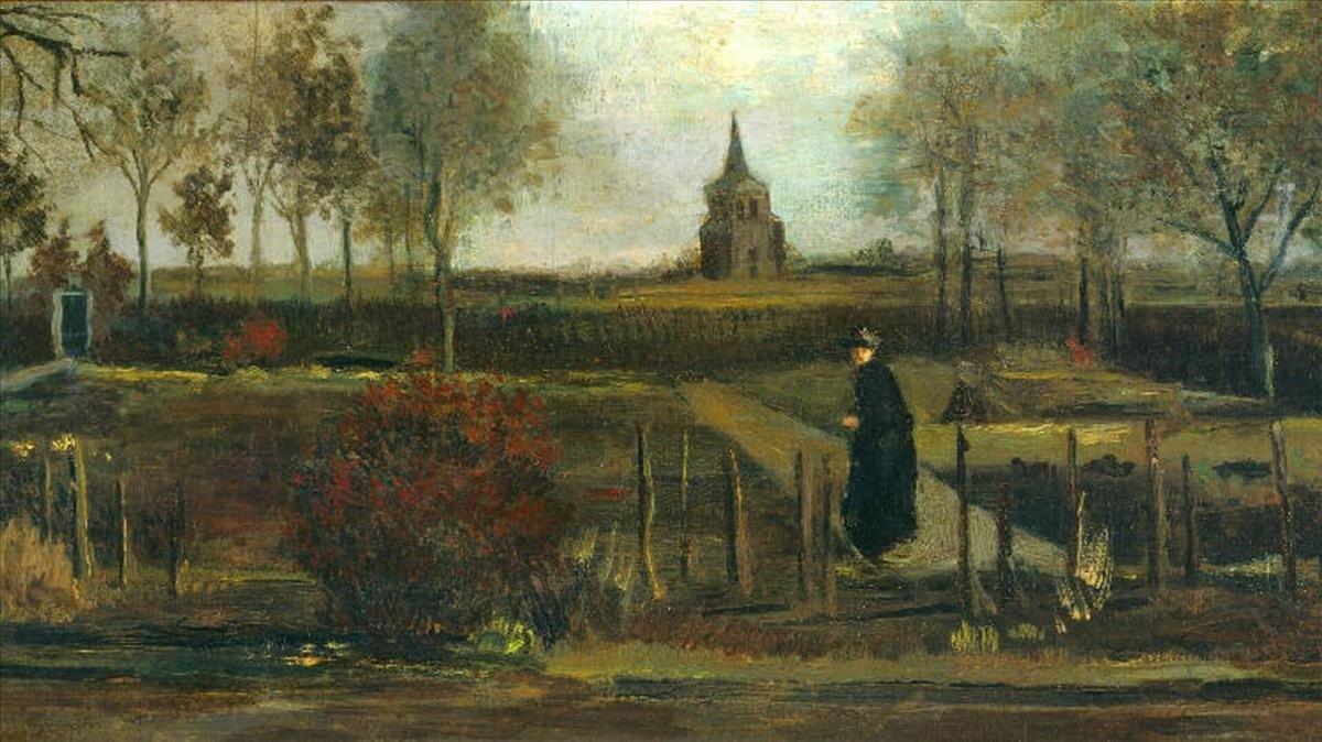 El cuadro de Van Gogh 'Jardín de primavera', robada en Holanda.