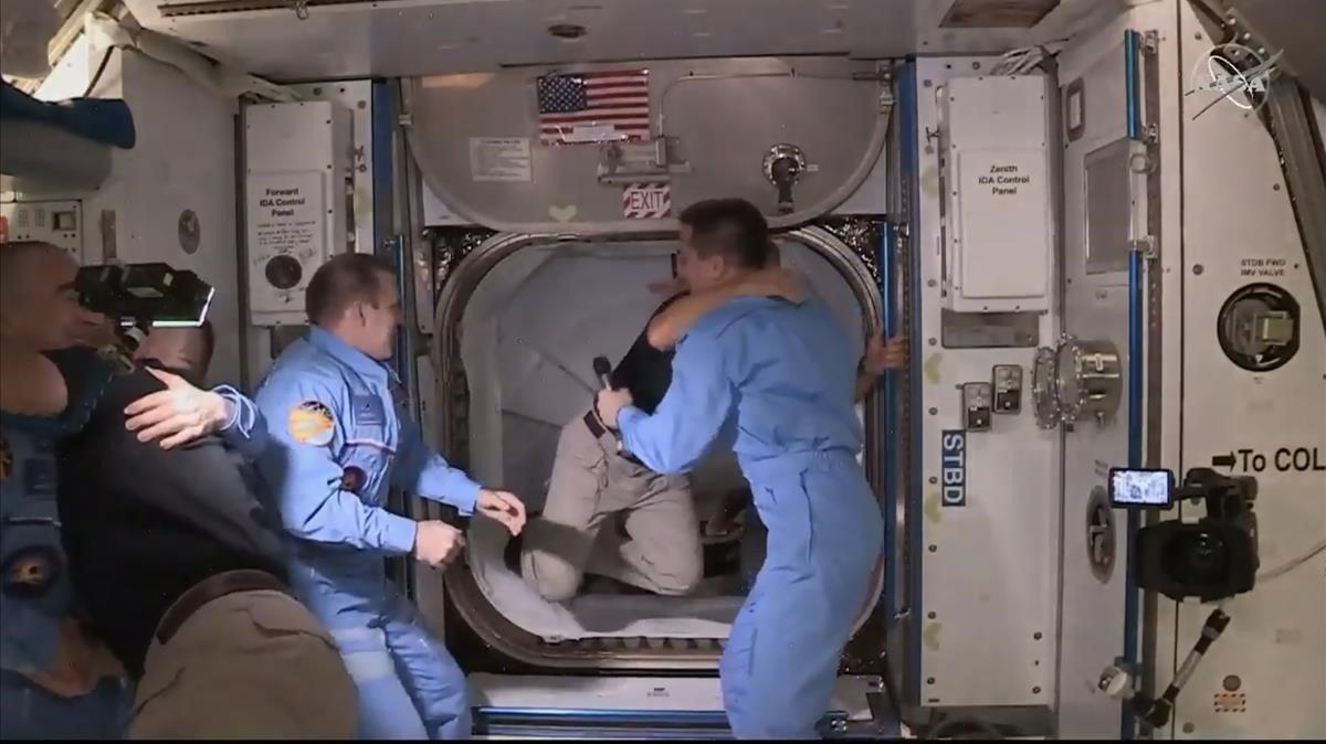 Llegada de los astronautas de la Crew Dragon a la Estación Espacial Internacional, el pasado 31 de mayo.