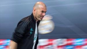 Zidane, tras la rueda de prensa de este martes.