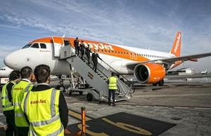 Easyjet en el aeropuerto de Bcn