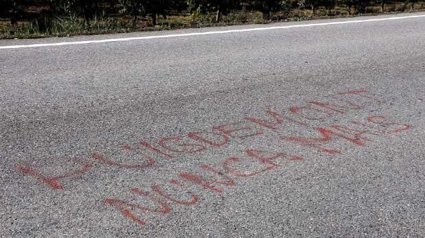 La Policia Local de Alcarràs atribuye a la Guardia Civil una pintada contra el president Puigdemont