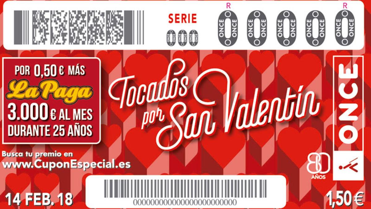 Sorteo ONCE San Valentín