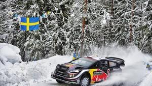 Ogier comenzó octavo en el Rally de Suecia