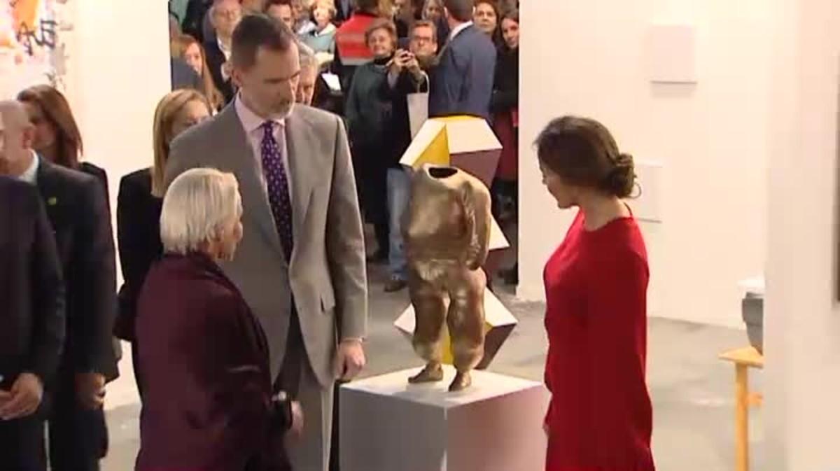 Felipe VI y Doña Letizia inaguran Arco 2018 en el Madrid de los Austrias.