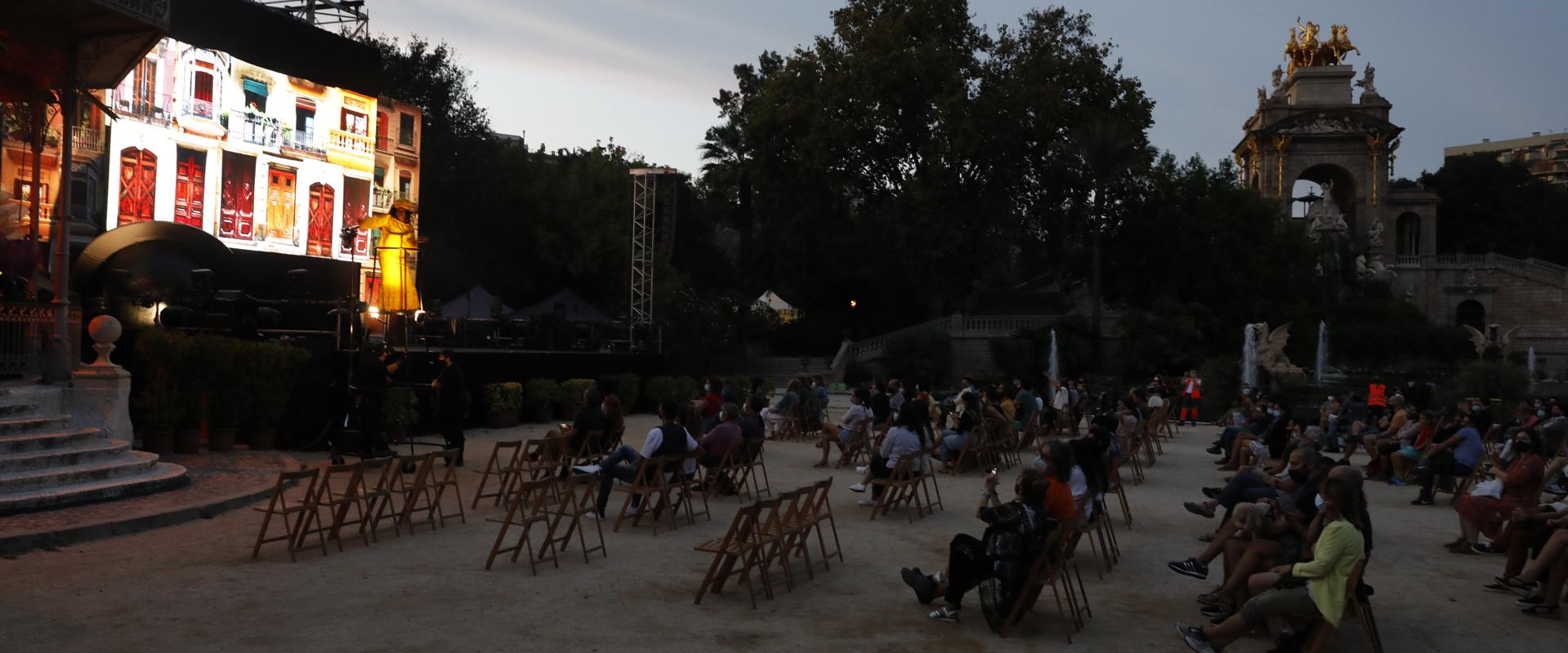 Actuación este jueves en el parc de la Ciutadella.
