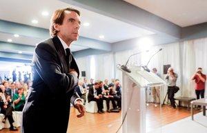 El expresidente del Gobierno Jose Maria Aznar clausura el tercer foro Ideas FAESen el que se debate sobre la necesidad de una reforma fiscal y los problemas derivados del actual modelo de financiacion autonomica EFEKai Forsrterling