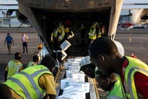 Envíos humanitarios tramitados por ACNUR.