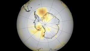 El agujero de la capa de ozo, en el año 2006.
