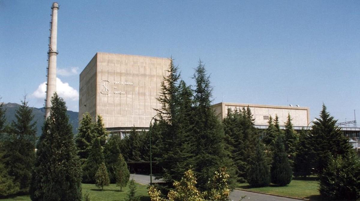 Exteriorde la central nuclear de Santa María de Garoña, en el norte de la provincia de Burgos.
