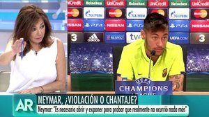 """Ana Rosa llama """"descerebrado"""" a Neymar tras ser acusado de abuso sexual"""