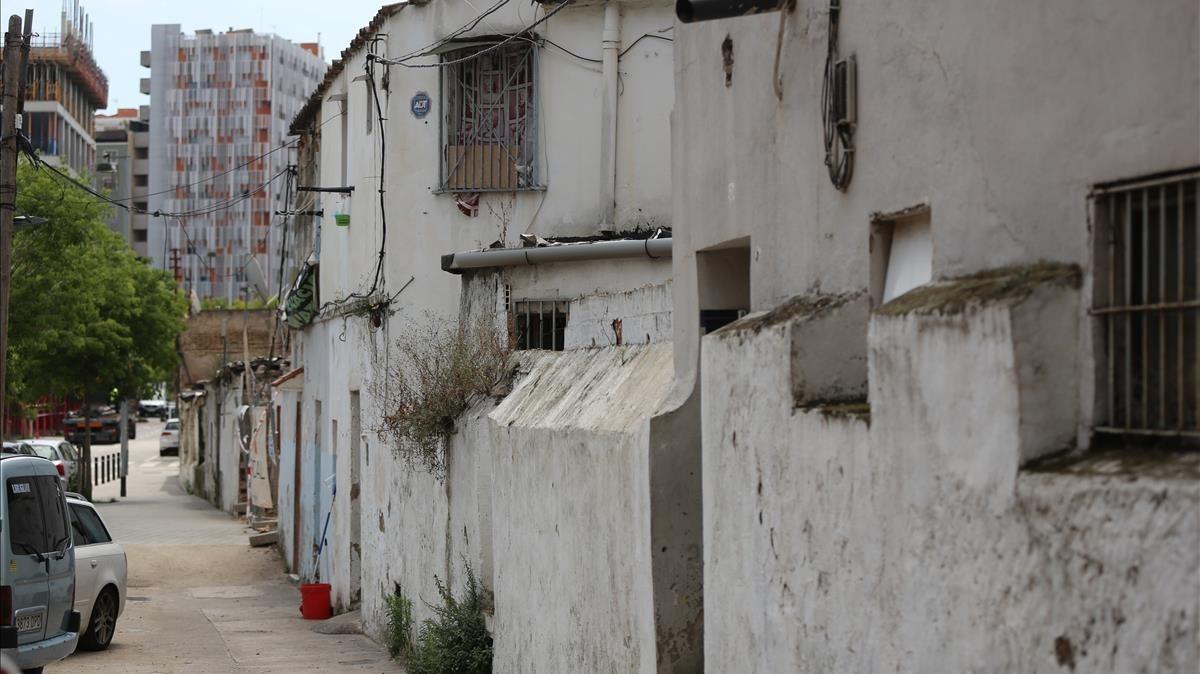 Barracas en el Camí de la Cadena, en el barrio de Sants.