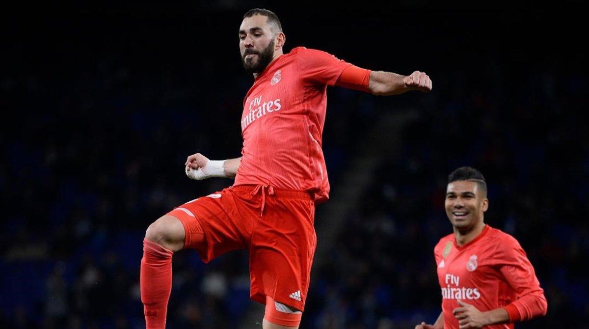 Benzema, que atraviesa un gran momento, fue decisivo.