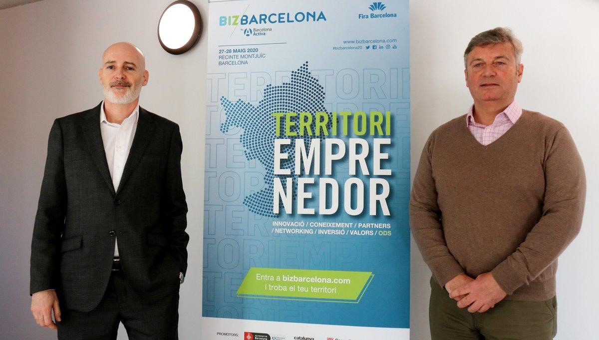 El director general de Barcelona Activa, Félix Ortega (izquierda), y el director de Bizbarcelona, Aleix Planas (derecha).