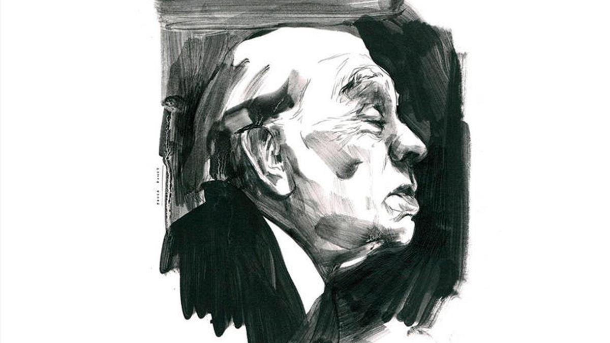 Borges, retratado por Paula Bonet.