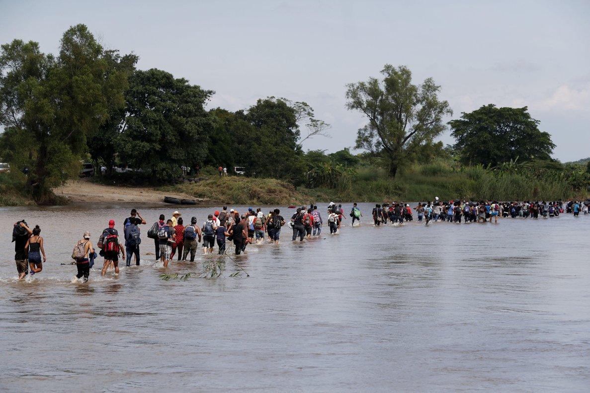 La caravana centroamericana se encuentra en el estado de Veracruz, México