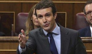 """Casado endurece el discurso y acusa a Sánchez de """"traición"""""""