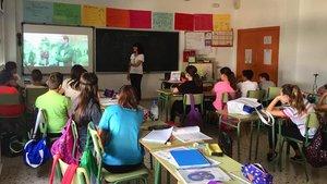 Charla de diversidad afectivo-sexual y de género en una escuela de Murcia que originó la reclamación de Vox.
