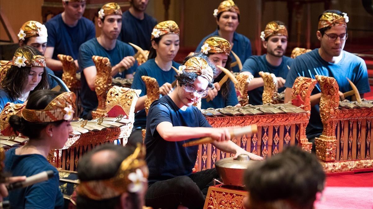 Concierto de gamelan en el Museu de la Música.