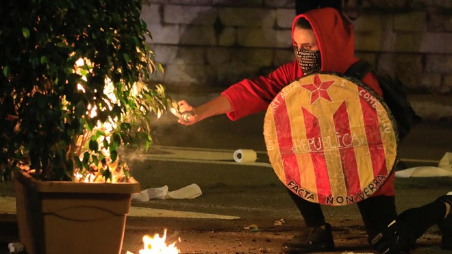 Cronología de las últimas noches de disturbios en Barcelona