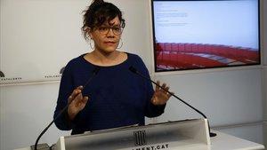 La diputada de la CUP Natàlia Sánchez, en una foto de archivo