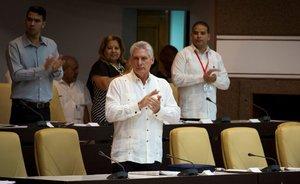 El presidente cubano, Miguel Díaz-Canel.