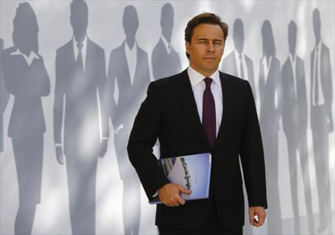 Dimas Gimeno, espresidente de El Corte Inglés, ayer, en una junta de accionistas.
