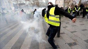 Disturbios en París durante la protesta de los 'chalecos amarillos'