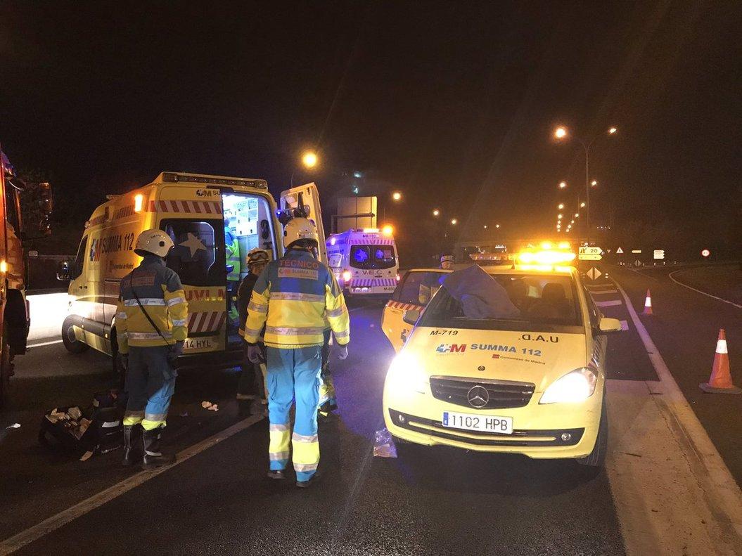 Mor una nena de 10 anys i uns altres 4 familiars ferits en un accident de trànsit a Madrid