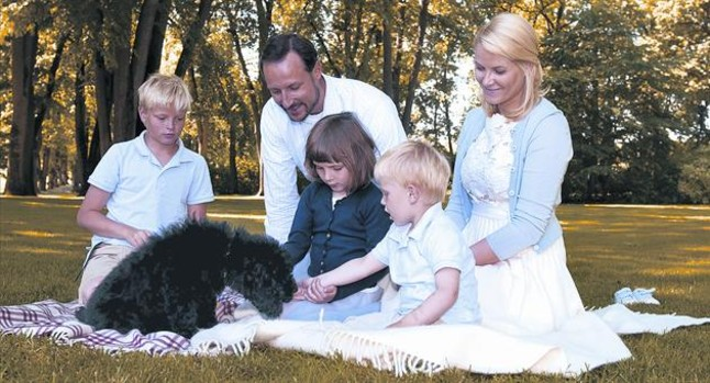 La familia real noruega, en el 2009.