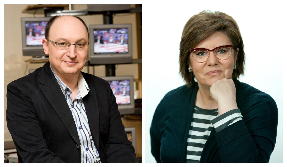 Los periodistas Fran Llorente y María Escario