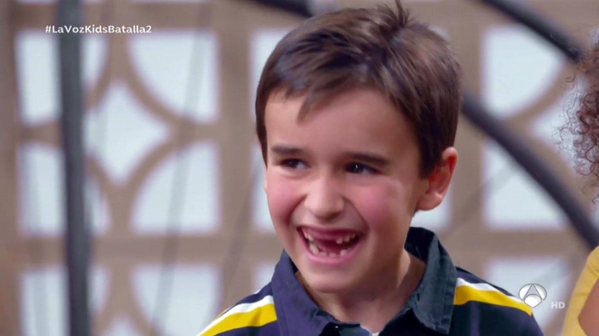Daniel, de 7 años, en 'La voz kids'.