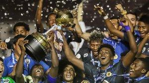 El Independiente del Valle celebran la conquista de la Libertadores Sub-20